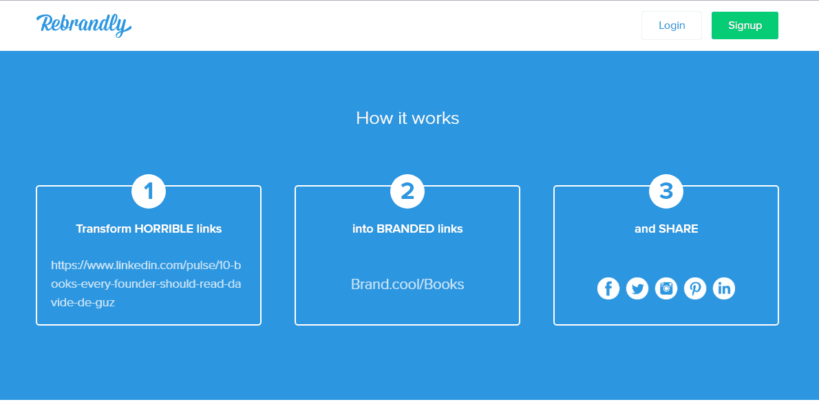 ReBrandly - Giải pháp rút gọn link theo tên miền riêng hoàn toàn miễn phí 2