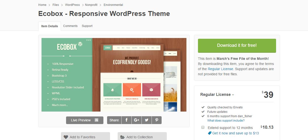 Ecobox - Responsive WordPress Theme 18
