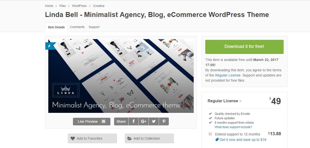 Linda Bell - Minimalist Agency, Blog, eCommerce WordPress Theme 15