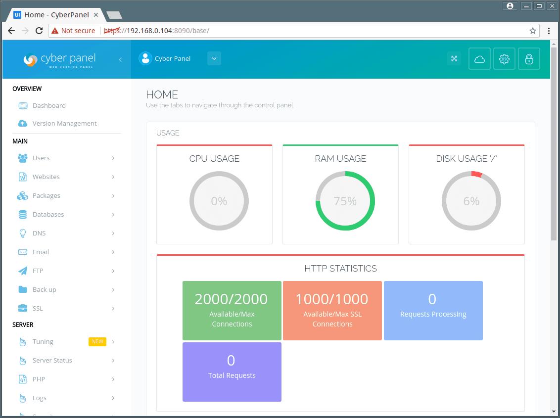 Cyber Panel Dashboard
