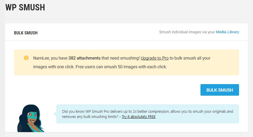 Hướng dẫn kích hoạt plugin WP Smush Pro miễn phí 32