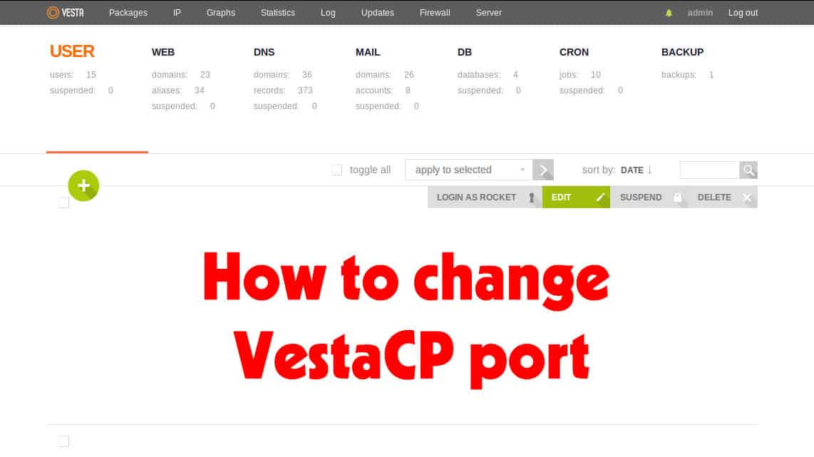 How to change VestaCP port and add firewall rules 15