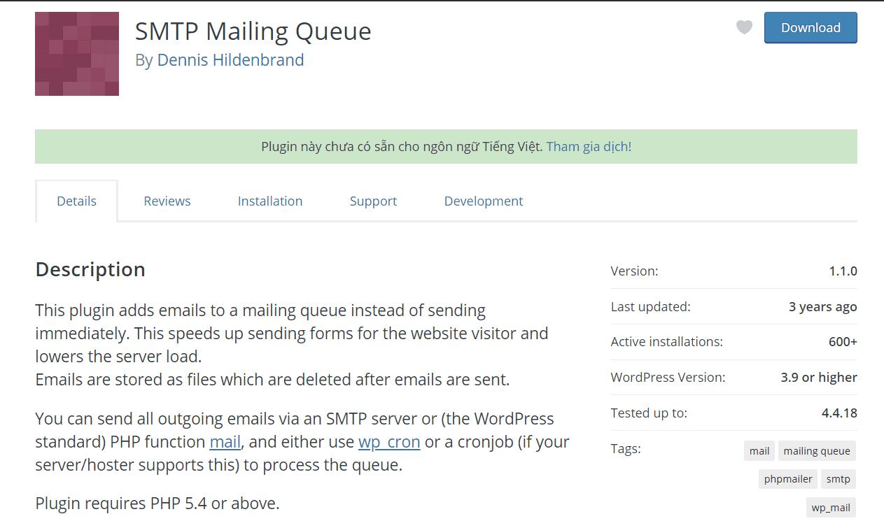 SMTP Mailing Queue 3